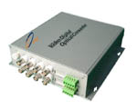 8 channel , DATA reverse Fiber Multiplexer media converter